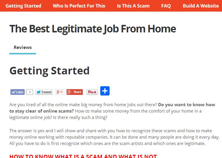 Legitimate Job From Home
