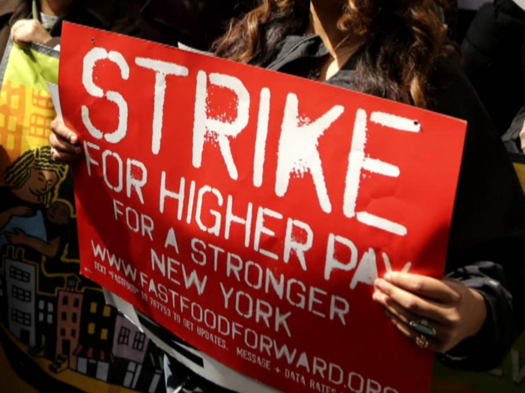 Minimum Wage Workers Strike