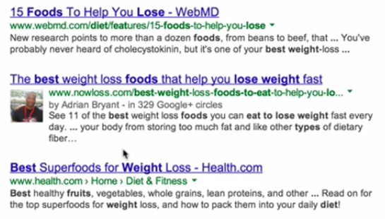 Google Authorship Image in Search