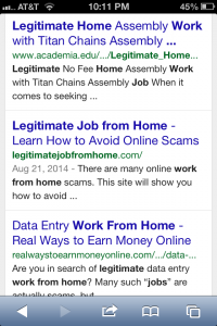 Legitimate Job From Home