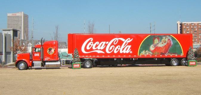 Coca-Cola Christmas Santa truck