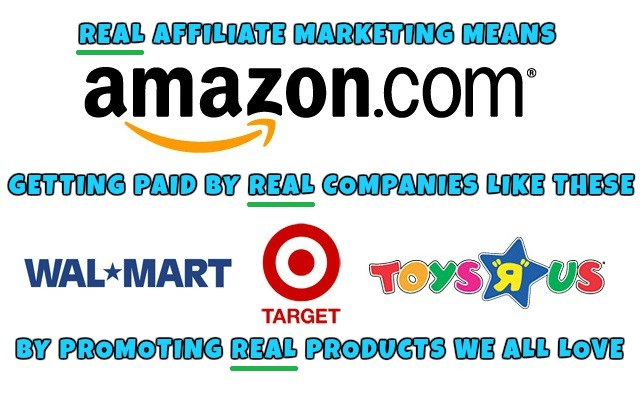 Real Online Affiliate Marketing with Real Popular Companies