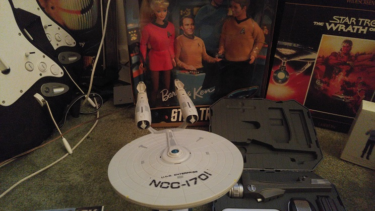 Various amounts of Star Trek collectibles