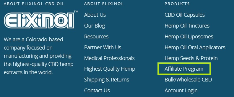 Elixinol website links