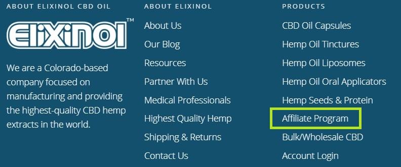 Elixinol website links