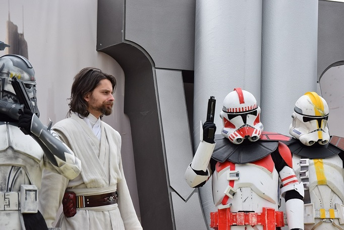 Fans of Star Wars in costume