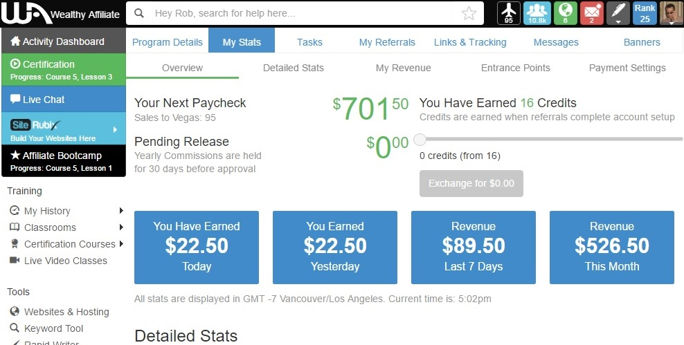 Wealthy Affiliate commission payment