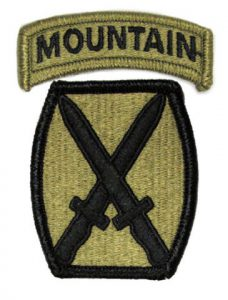 U.S. Army 10th Mountain Division shoulder patch