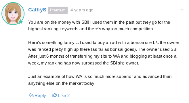 A former SBI member explains why she feels WA is better than SBI