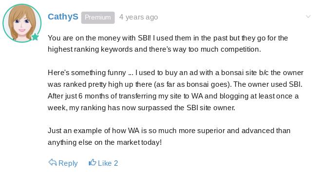 A former SBI member explains why she feels WA is better than SBI
