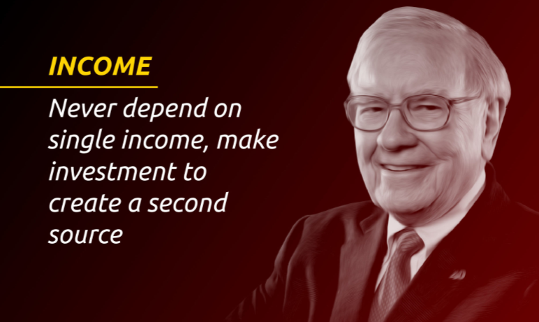 A Warren Buffet quote to prevent living from paycheck to paycheck