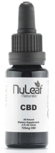 NuLeaf Naturals CBD Hemp Oil Tincture Dropper Bottle