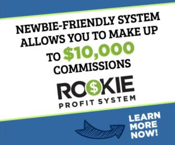Ad for the Rookie Profit System scam