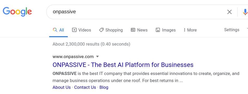 Google search results for PNPASSIVE