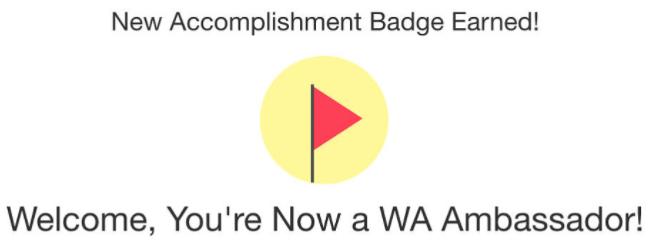 Wealthy Affiliate Ambassador Badge