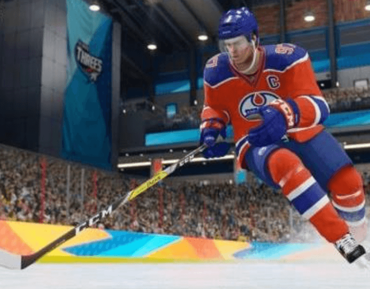 Screenshot from an NHL video game 2018
